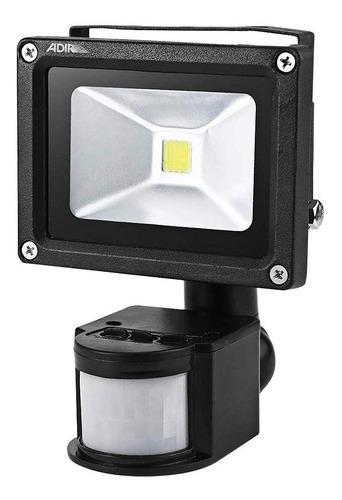 reflector led con sensor de movimiento adir  10w