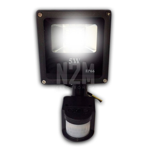 reflector led con sensor movimiento blanco 5w exterior n2m
