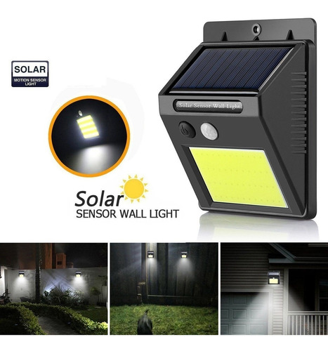 reflector led exterior fotocelula solar  20 led luz fria