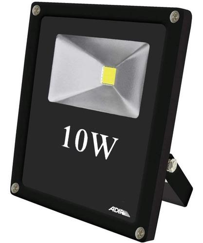 reflector led extra plano 10 w blanco super power adir 2450
