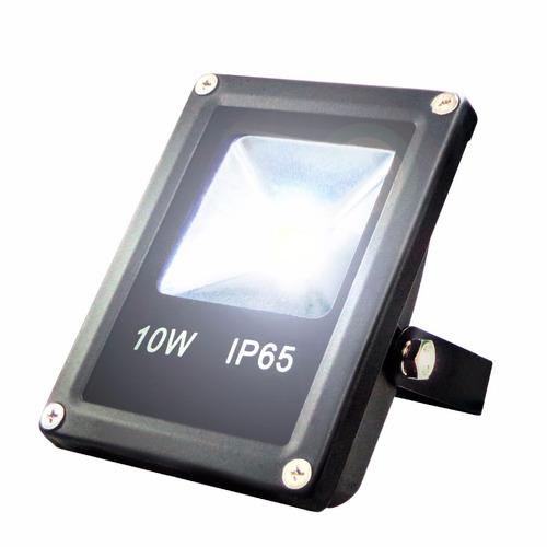 reflector led luminaria de led exterior 10w blanco.,