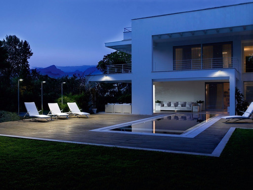 reflector led negro 20w exterior bajo consumo luz fría