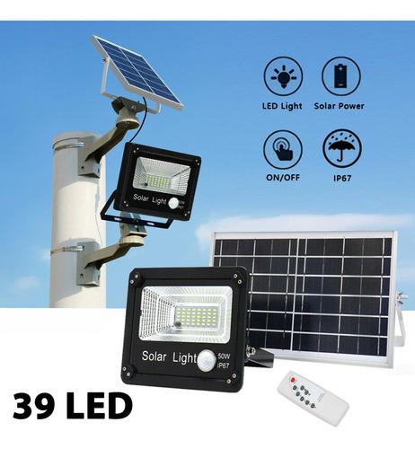 reflector led panel solar 50w control remoto sensor