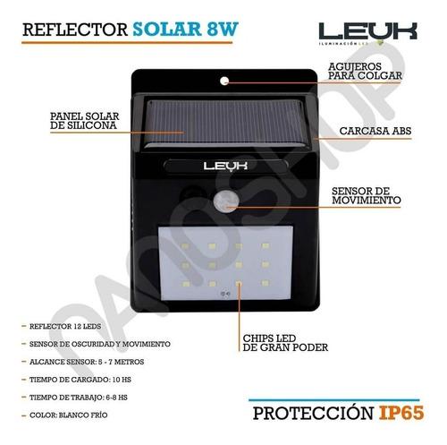 reflector led panel solar sensor movimiento blanco frio