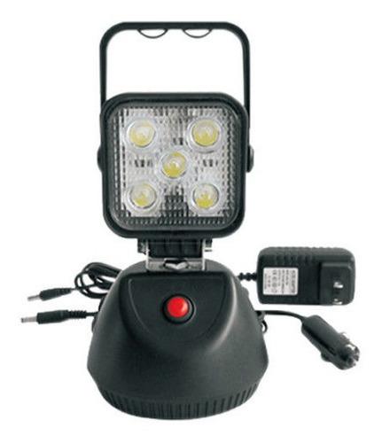 reflector led portatil mod 2076 recargable 15w iman ip67 rescate camping seguridad