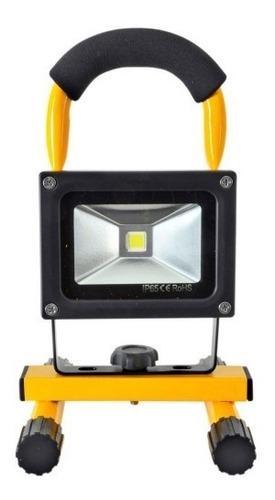 reflector led recargable 25w linterna camping auto bateria