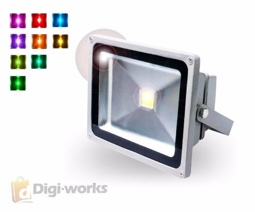 reflector led rgb 10w multicolor con 16 colores/c. remoto
