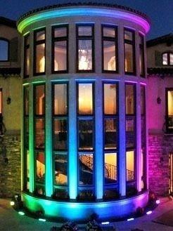 reflector led rgb exterior 50w 16 colores + blanco