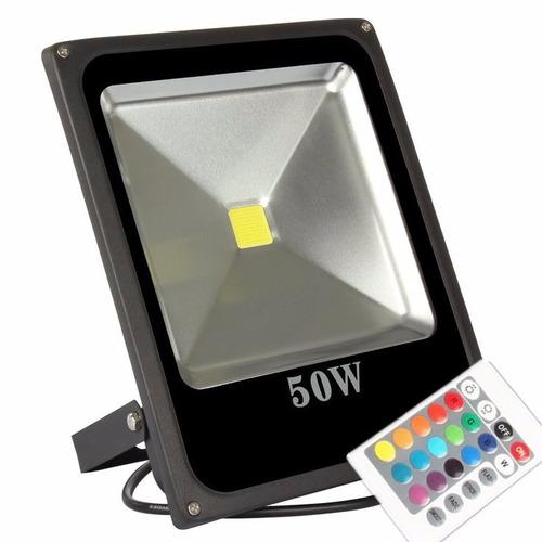 reflector led rgb multicolor 16 colores de 50w mas control