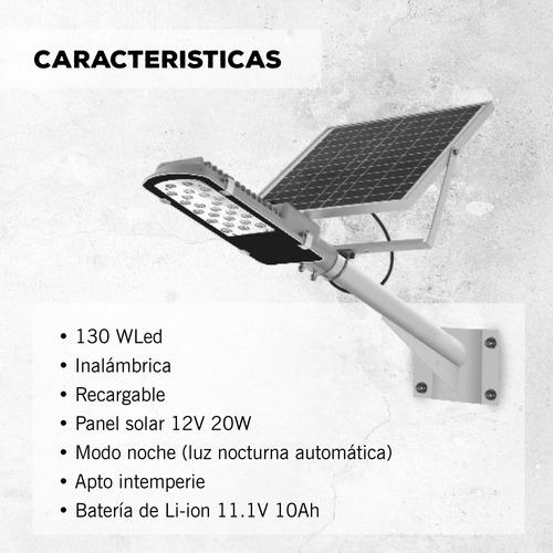 reflector led solar con soporte atomlux 130w inalamrico pce