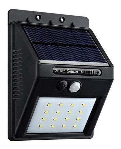 reflector led solar exterior fotocelula 20 led luz fria
