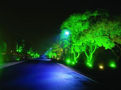 reflector led verde o azul 10w p/ decorar plantas y jardines