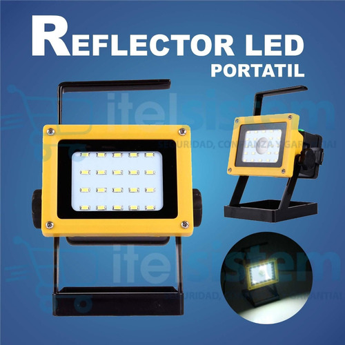 reflector linterna led portatil recargable itelsistem