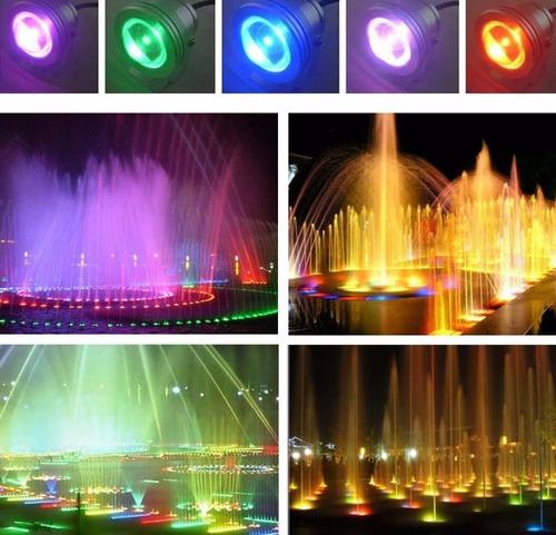 reflector luz led multicolor luces rgb sumergible piscinas