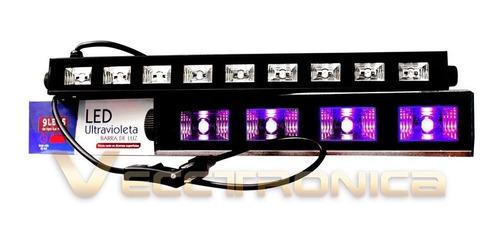 reflector luz negra barra uv ideal para fiestas de neón