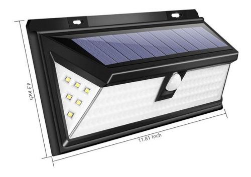 reflector luz solar 118 led sensor mov garajes pack x2 un