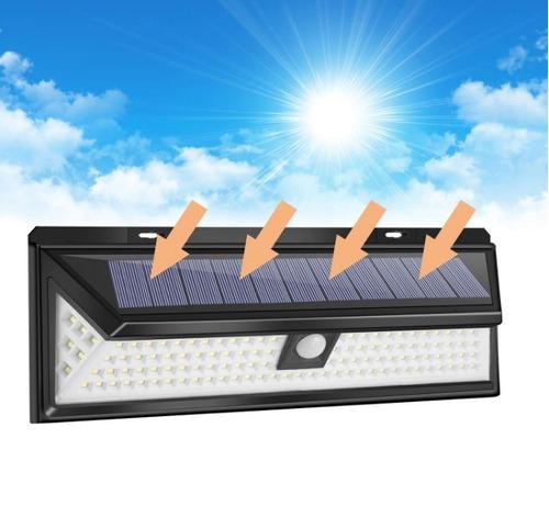 reflector luz solar 118 led sensor mov jardines garajes