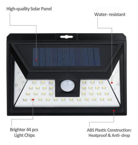 reflector luz solar 44 led sensor mov jardines garages