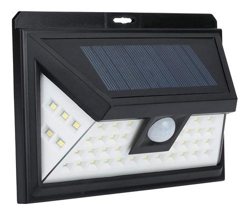 reflector luz solar 44 led sensor mov jardines garages x2 un
