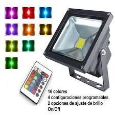 reflector multicolor 10w control remoto. ideal para fachadas
