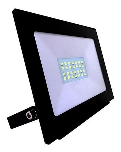 reflector proyector led 20w interelec ip65 luz dia exterior