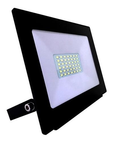 reflector proyector led 30w interelec ip65 luz dia exterior