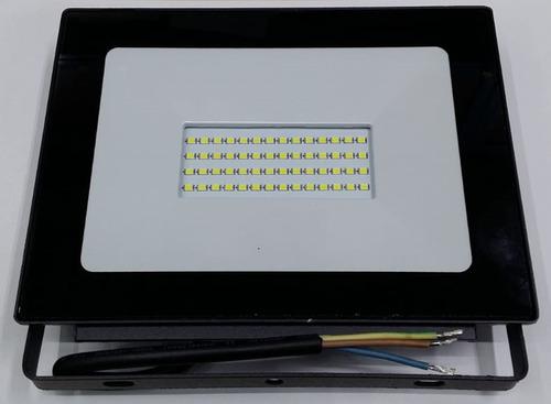 reflector proyector led 50w interelec ip65 luz dia exterior