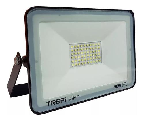 reflector proyector led 50w luz fria exterior