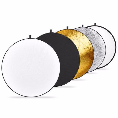 reflector rebotador de luz 5 en 1 60cm plegable fotografía