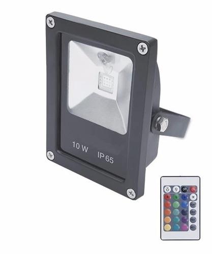 reflector rgb 10w led 220v control remoto colores multicolor
