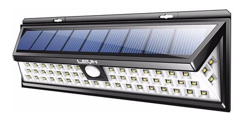 reflector solar 54 led luz exterior c/ sensor farol ahorro