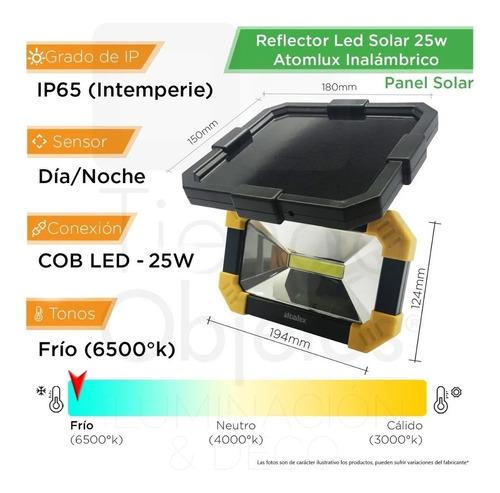 reflector solar led 25w luz noche permanente exterior ip65