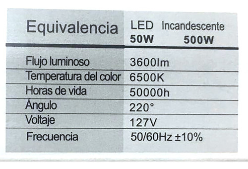 reflector ultradelgado slim 50w megaluz maxima potencia