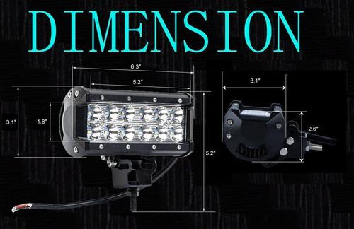 reflectores de luz led 4 pzs. 36w/ 6.25 pulgadas camionetas