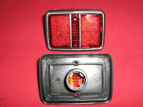 reflejante trasero caribe  x pieza der o izq rojo