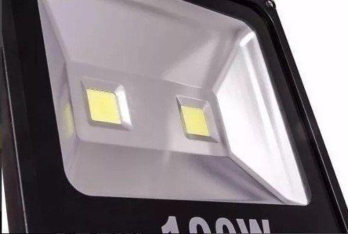 refletor 100w luminária jardim luz branco frio campo futebol