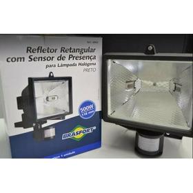 Refletor Com Sensor De Presença Brasfort Para Lamp. Halogena