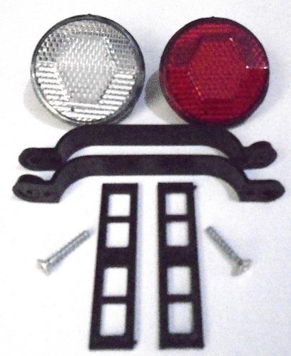 refletor de bike olho de gato m.frik traseiro / dianteiro.