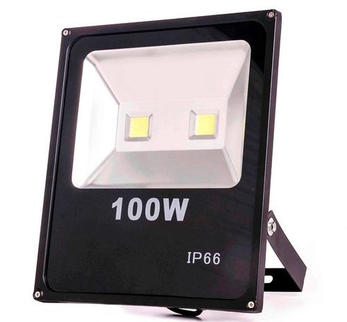 refletor de led - holofote branco frio 100w - bivolt