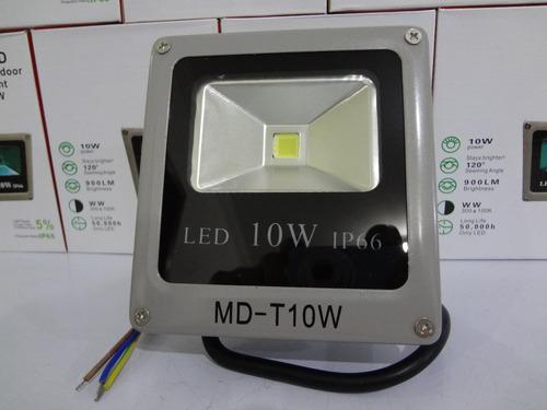 refletor holofote led 10w slim - branco frio bi-volt ip66