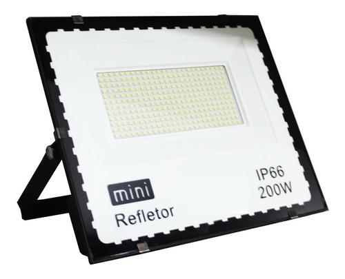 refletor holofote led 200w smd bivolt jardim quadra externo