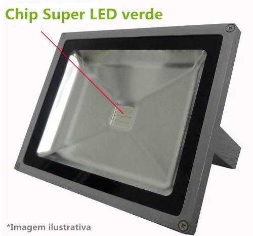 refletor holofote led verde 50w super led ip65 bivolt