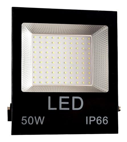 refletor holofote micro led smd 50w branco frio 6000k ip66