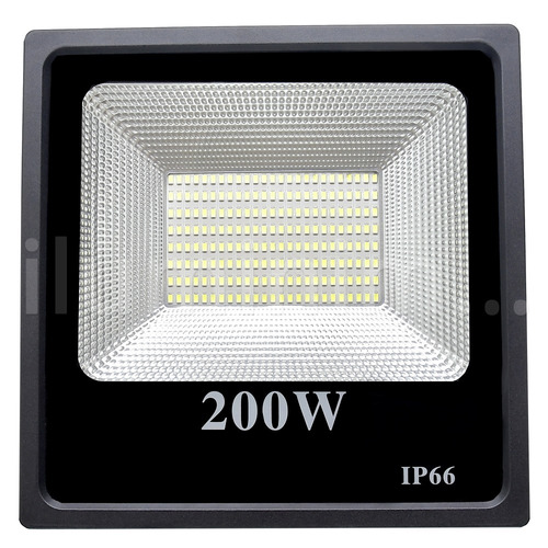 refletor holofote microled smd 200w slim bivolt ip66 branco