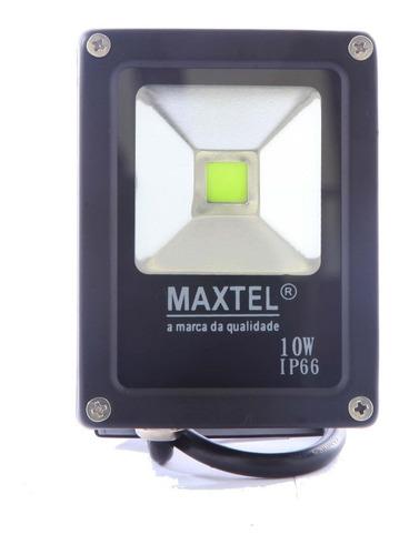 refletor led 10w holofote maxtel branco quente ip66 bivolt
