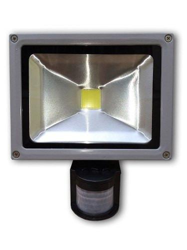 refletor led 50w - sensor presença uso externo - branco frio