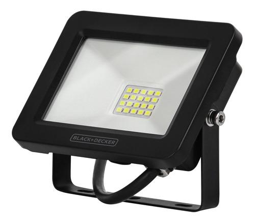 refletor led eco 20w 6500k ip65 100-240v - black + decker