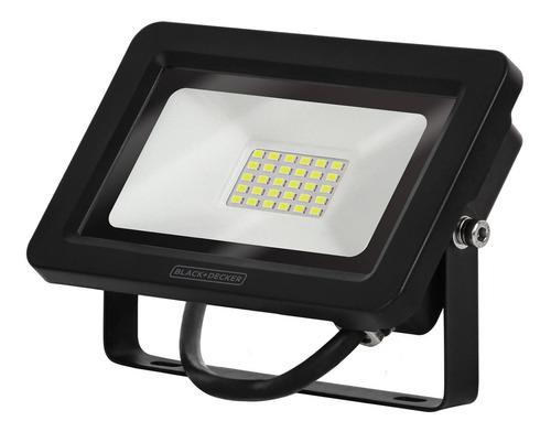 refletor led eco 30w branca ip65 100-240v - black + decker