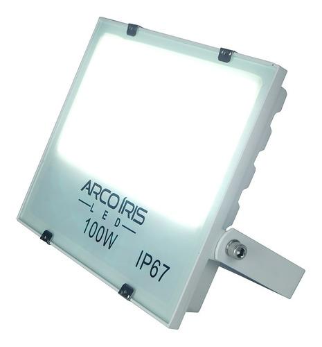 refletor led holofote branco frio 100w bivolt prova d'água