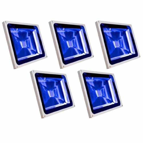 refletor led holofote led 20w azul bivolt kit 5 unidades
